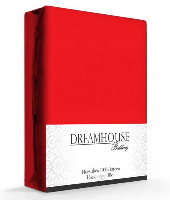 Dreamhouse Hoeslaken Katoen Rood