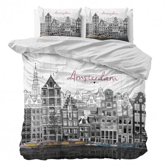 Dreamhouse Dekbedovertrek Old Amsterdam Grey