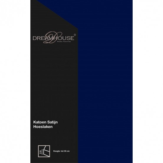 Dreamhouse Hoeslaken Satijn Blauw 90x200cm