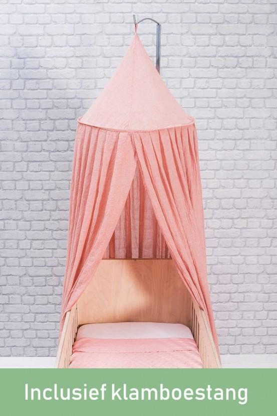 Jollein Klamboe Vintage Blush Pink (incl Klamboestang)