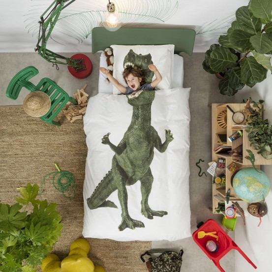Snurk Beddengoed Dinosaurus Rex-140x200/220