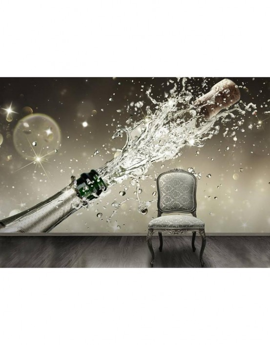 Fotobehang Champagne 232 cm x 315 cm