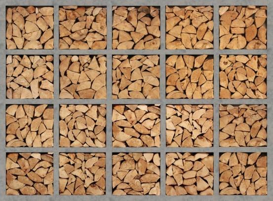 Log Wall Fotobehang (Wallpaper)