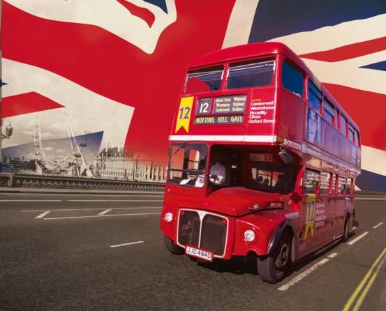 London Bus Fotobehang (Wallpaper)