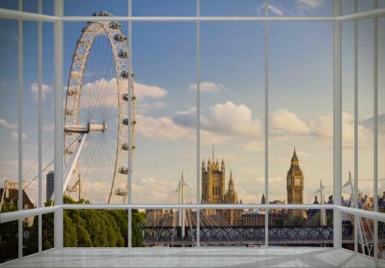 London Window Fotobehang (Wallpaper)