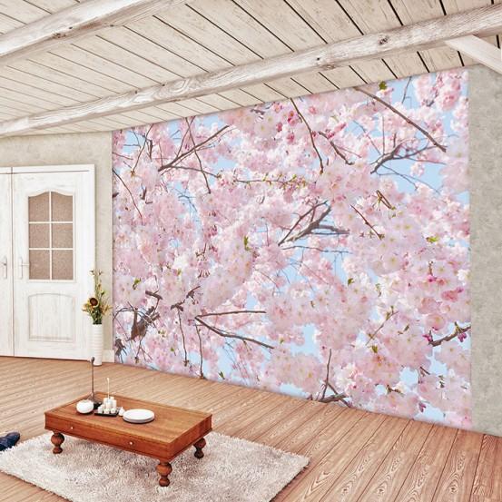 Fotobehang Pink Blossoms (366 x 254 cm)