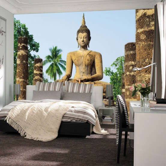 Fotobehang Sukhothai Tempel (366 x 254 cm)