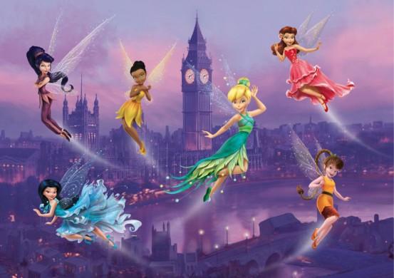 Fairies In London Fotobehang 4D (AG Design)