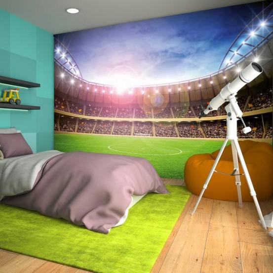 Fotobehang Voetbalstadion (366 x 254 cm)