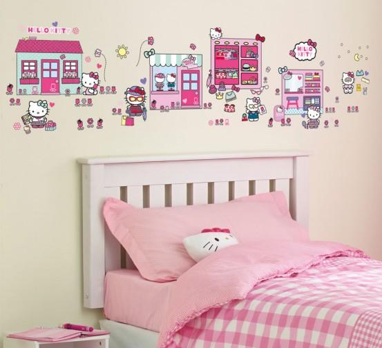 Hello Kitty Plak een Verhaal Stickers