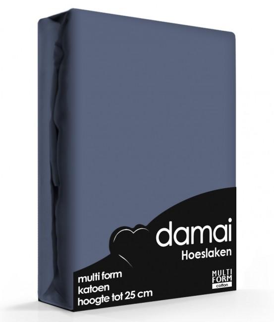 Hoeslaken Multiform Damai Donker Blauw (Katoen)