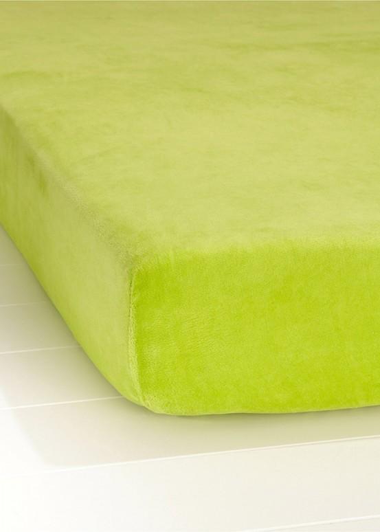 Descanso Jersey Hoeslaken Lime 90 x 220 cm
