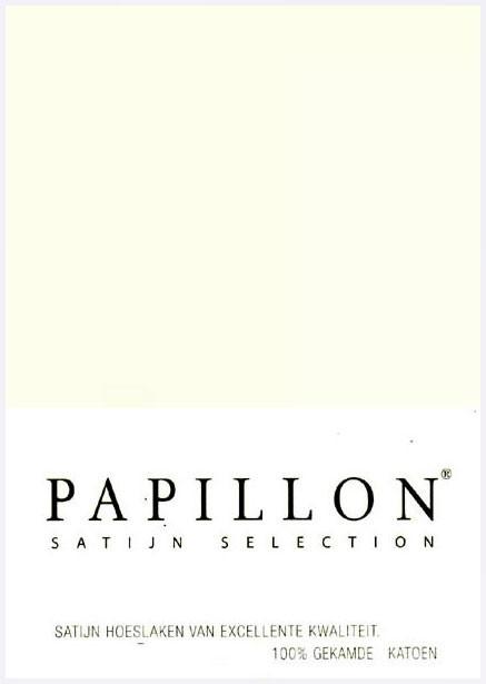 Satijn Hoeslaken Papillon Ecru 90x200cm