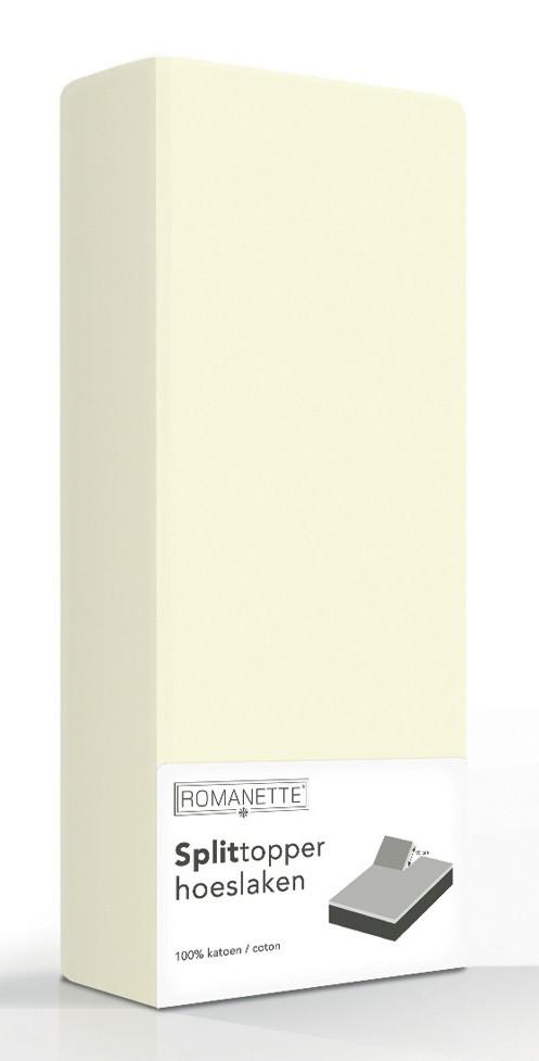 Split-Topper Hoeslaken Romanette Ivoor