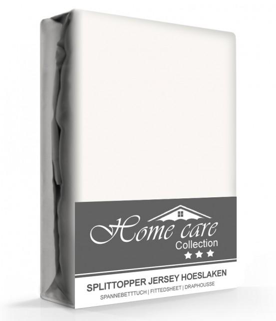 Homecare Jersey Splittopper Hoeslaken Creme