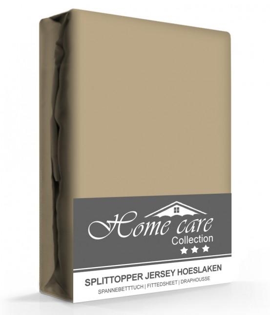 Homecare Jersey Splittopper Hoeslaken Taupe