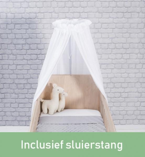 Jollein Sluier Vintage Wit (incl Sluierstang)