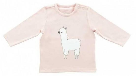 Jollein Shirt Lange Mouw 74/80 Lama Blush Pink