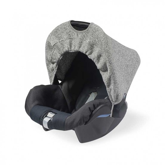 Jollein Zonnekapje Stonewashed Knit Grey (0 tot 9 maanden stoel)
