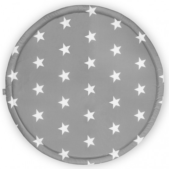Jollein Boxdek Rond Little Star Dark Grey ø 92cm