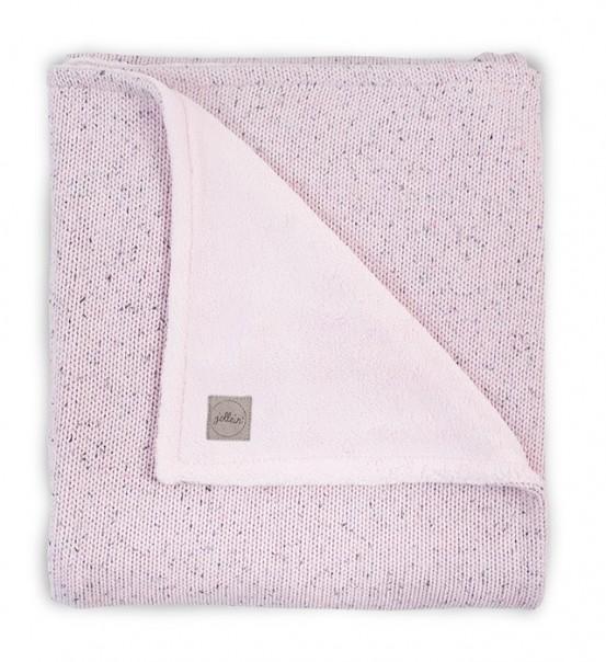 Jollein Deken Confetti Knit Teddy 100x150cm Vintage Pink