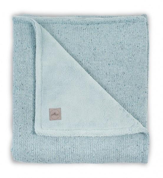 Jollein Deken Confetti Knit Teddy 75x100cm Stone Green