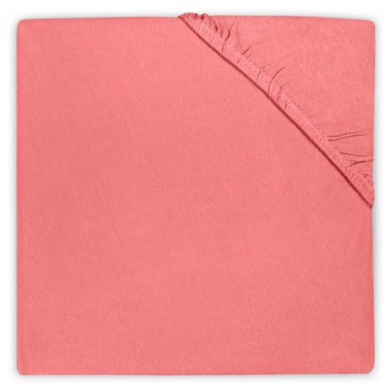Jollein Hoeslaken Jersey Coral Pink