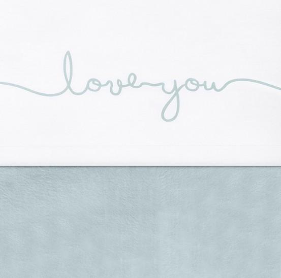 Jollein Laken 120x150cm Love You Stone Green