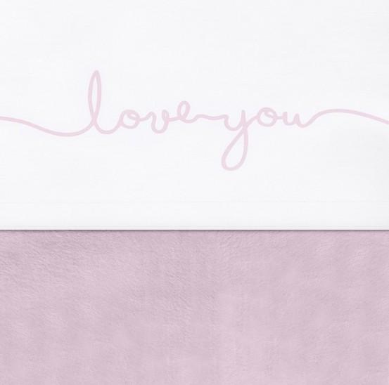 Jollein Laken 120x150cm Love You Vintage Pink