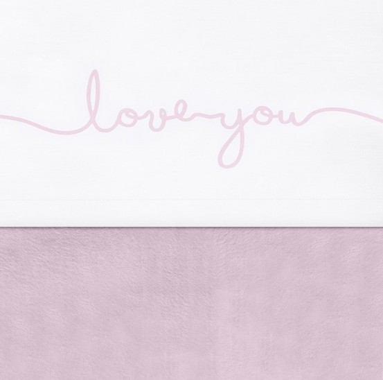 Jollein Laken 75x100cm Love You Vintage Pink