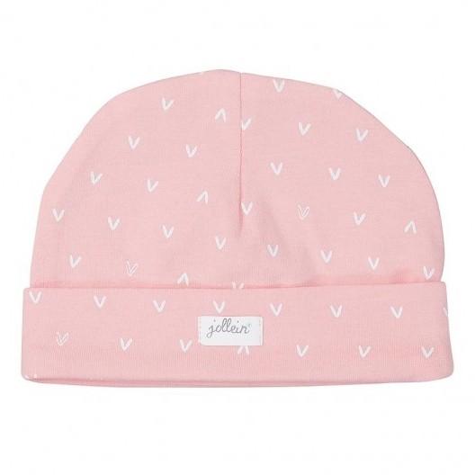 Jollein Muts Hearts Soft Pink 6-12 maand