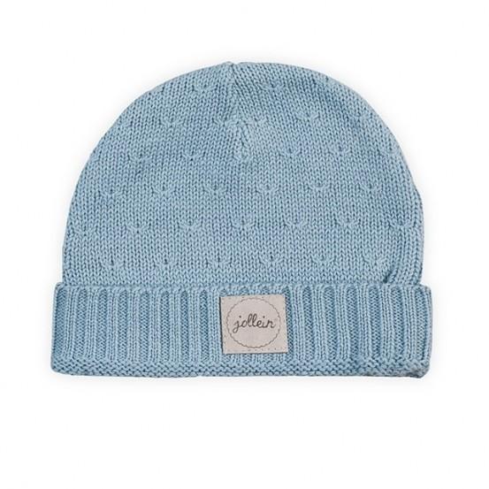 Jollein Muts Soft Knit Soft Blue