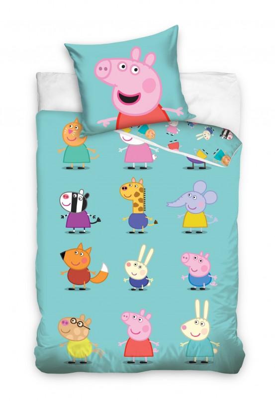 Kinderdekbedovertrek Peppa Pig Vriendjes