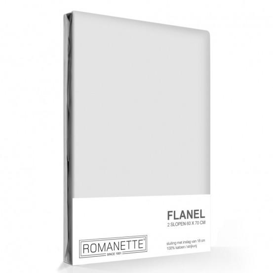 Flanellen Kussenslopen Zilver (2 stuks)