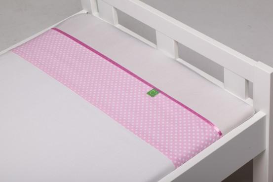 BabyBam Wieglaken Bea Roze 75x100cm