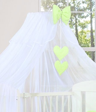 My Sweet Baby Sluier Chic Voile Wit/Lime