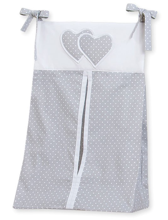 My Sweet Baby Luierzak Two Hearts Dots/Grijs