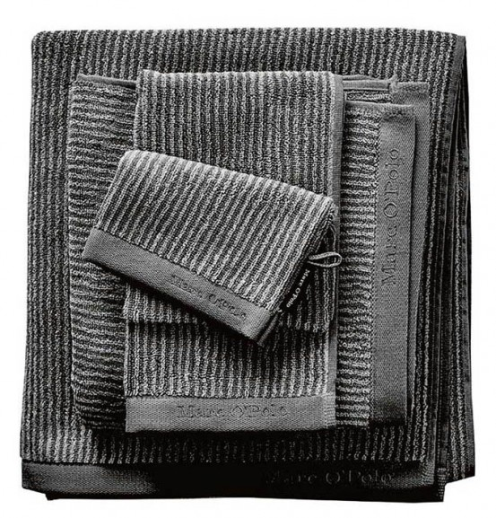 Marc O'Polo badgoed Timeless Tone Stripe Anthracite & Silver