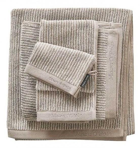 Marc O'Polo badgoed Timeless Tone Stripe Beige & Ecru
