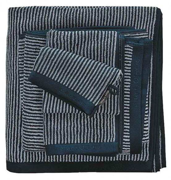 Marc O'Polo badgoed Timeless Tone Stripe Navy & Silver