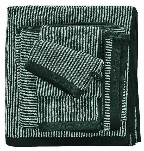 Marc O'Polo Timeless Tone Stripe Pine Green & Off White