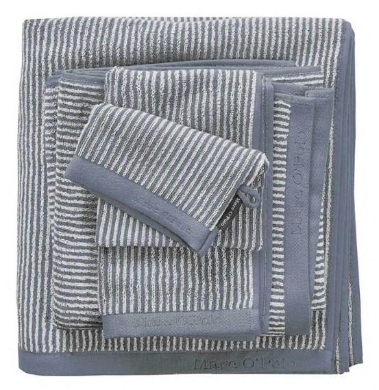 Marc O'Polo badgoed Timeless Tone Stripe Smoke Blue & Off White