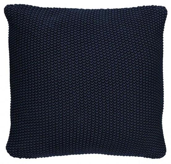 Marc O'Polo Sierkussen 50x50cm Nordic Knit Indigo Blue