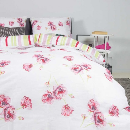 Nightlife Dekbedovertrek Poppy Flower Pink