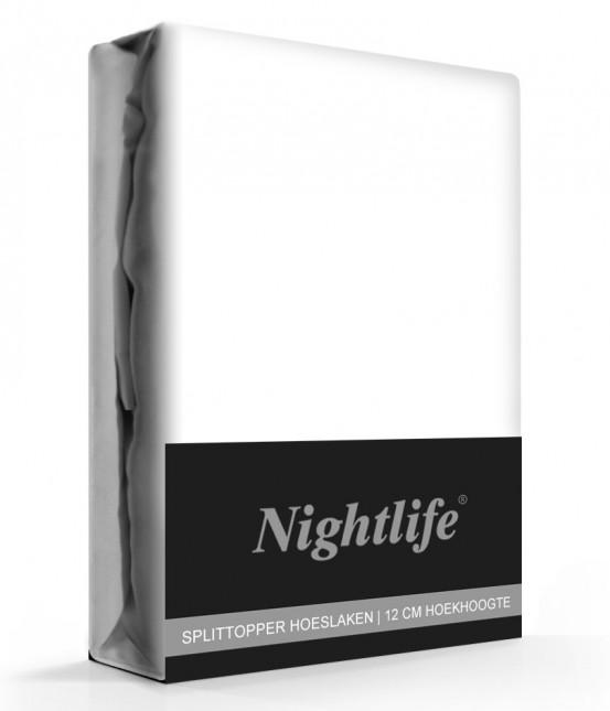 Nightlife Jersey Splittopper Hoeslaken Wit