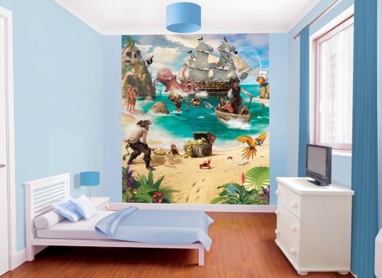 Pirate and Treasure Fotobehang (Walltastic)