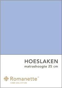 Romanette Hoeslaken Katoen Lichtblauw-90 x 200 cm