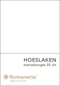 Romanette Hoeslaken Katoen Wit-90 x 200 cm