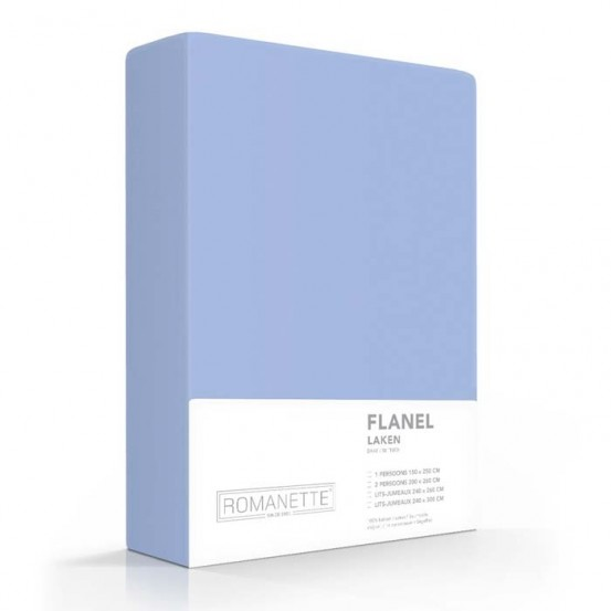 Flanellen Lakens Romanette Blauw