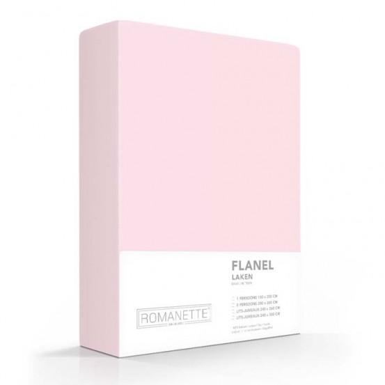 Flanellen Lakens Romanette Roze